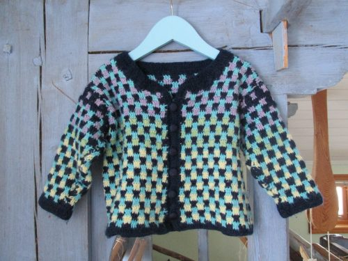 The crocheted jacket Playful